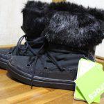 悪天候にも強いクロックスのファー付きショートブーツ 軽さにびっくり