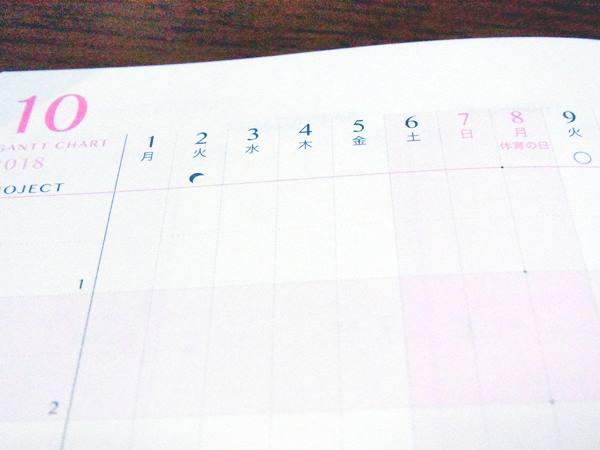 月暦がついている