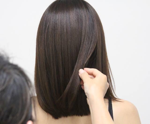 美髪ケア後の髪